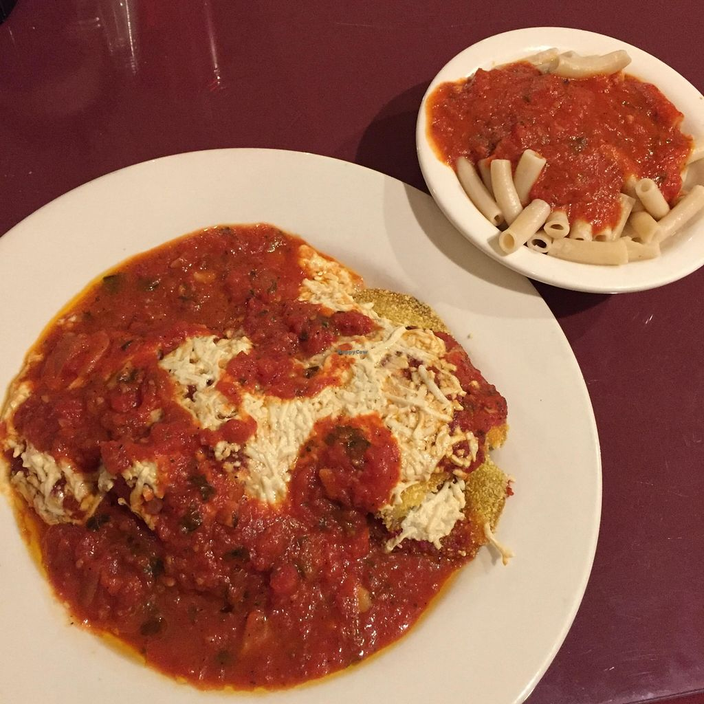 """Photo of Via Roma Pizza and Restaurant  by <a href=""""/members/profile/AshleyxMichelle"""">AshleyxMichelle</a> <br/>Vegan Gluten Free Eggplant Parmesan <br/> March 1, 2016  - <a href='/contact/abuse/image/22475/138327'>Report</a>"""
