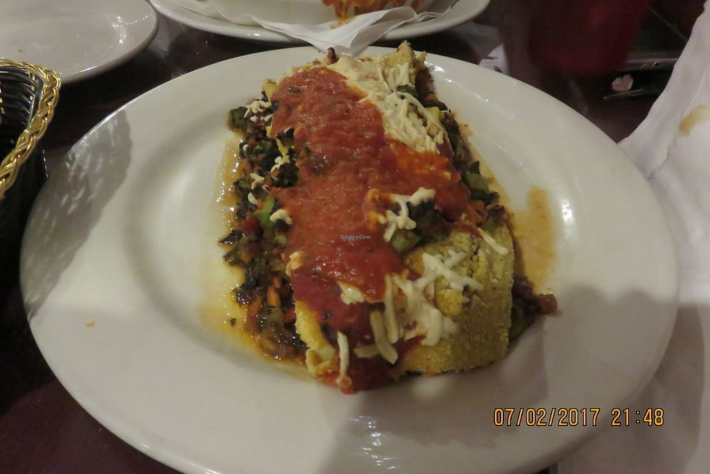 """Photo of Via Roma Pizza and Restaurant  by <a href=""""/members/profile/tracyrocks"""">tracyrocks</a> <br/>vegan veg rollatini <br/> January 5, 2018  - <a href='/contact/abuse/image/22475/343386'>Report</a>"""