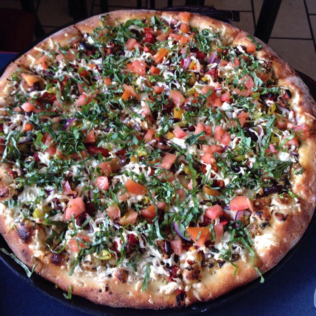 "Photo of Vegan Korner  by <a href=""/members/profile/Mark%20Seitz"">Mark Seitz</a> <br/>Pesto Mediterranean Pizza  <br/> May 24, 2015  - <a href='/contact/abuse/image/22520/103304'>Report</a>"