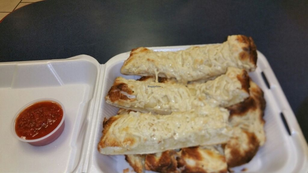 "Photo of Vegan Korner  by <a href=""/members/profile/EncinAdia"">EncinAdia</a> <br/>Cheesy Breadsticks <br/> June 26, 2016  - <a href='/contact/abuse/image/22520/156111'>Report</a>"