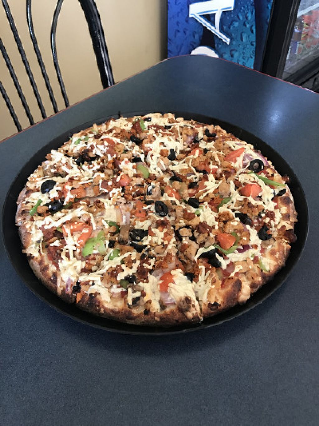 "Photo of Vegan Korner  by <a href=""/members/profile/yulie1022"">yulie1022</a> <br/>Vegan Supreme Pizza