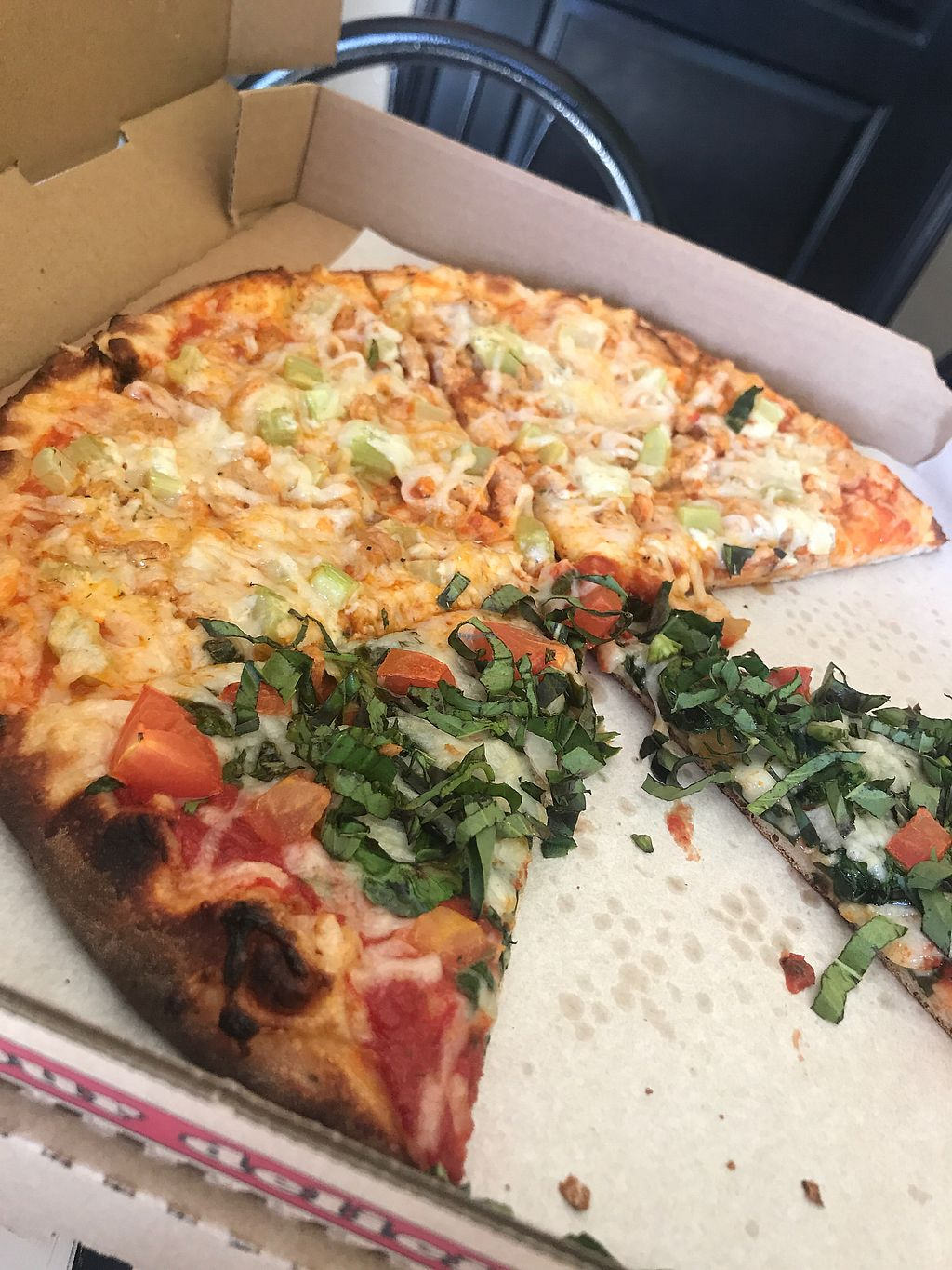 "Photo of Vegan Korner  by <a href=""/members/profile/VickyLee"">VickyLee</a> <br/>Buffalo ranch chicken and margherita pizza <br/> February 7, 2018  - <a href='/contact/abuse/image/22520/355924'>Report</a>"