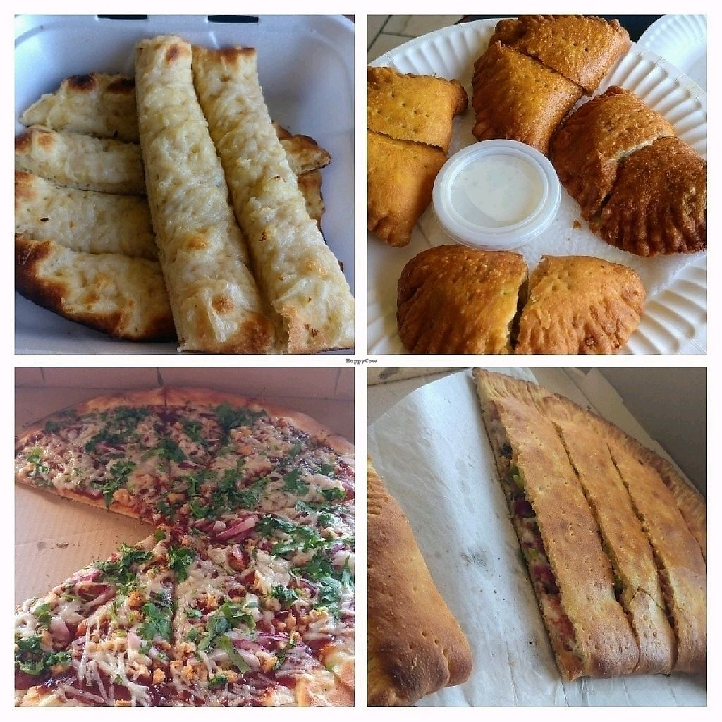 "Photo of Vegan Korner  by <a href=""/members/profile/Emi.S"">Emi.S</a> <br/>Cheesy breadsticks, jalapeno poppers, bbq chicken pizza, and calzone <br/> April 11, 2018  - <a href='/contact/abuse/image/22520/383931'>Report</a>"