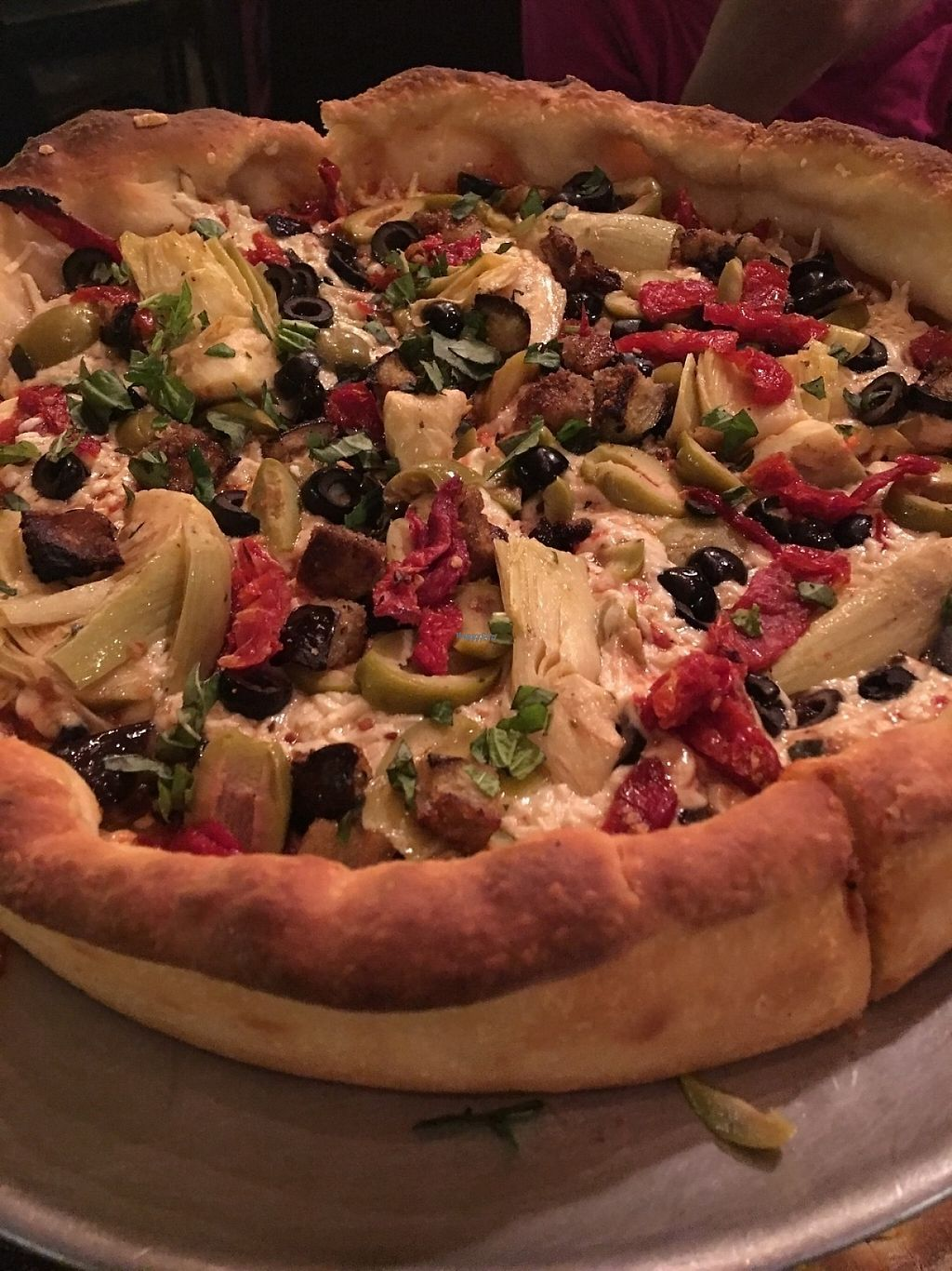 """Photo of Bianelli's Gourmet Pizza  by <a href=""""/members/profile/myra975"""">myra975</a> <br/>Vegan Deep Dish Pizza <br/> March 7, 2017  - <a href='/contact/abuse/image/22583/233880'>Report</a>"""