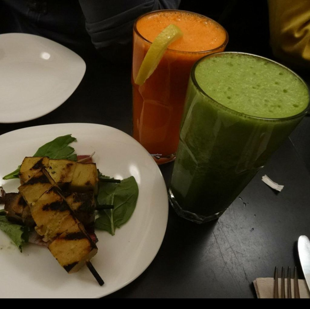 "Photo of Candle Cafe  by <a href=""/members/profile/Adele17"">Adele17</a> <br/>Tofu kebabs and healthy juices <br/> December 19, 2014  - <a href='/contact/abuse/image/2260/88268'>Report</a>"