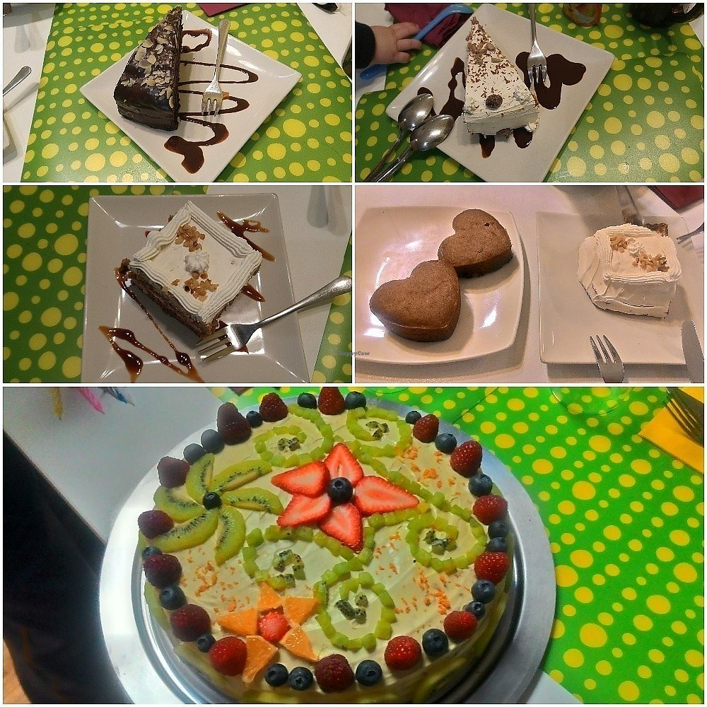 """Photo of Loving Hut - Madrid  by <a href=""""/members/profile/Trambau"""">Trambau</a> <br/>Chocolate, carrot, almond... cake with whipped cream. The last was coconut-avocado flavored gluten-free birthday cake!! <br/> January 13, 2018  - <a href='/contact/abuse/image/22668/345988'>Report</a>"""