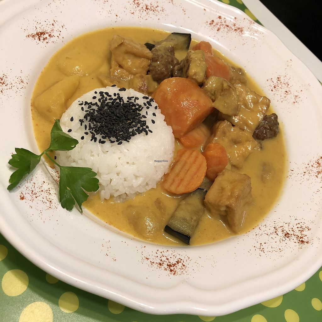 """Photo of Loving Hut - Madrid  by <a href=""""/members/profile/TARAMCDONALD"""">TARAMCDONALD</a> <br/>Seitan curry delicious <br/> April 17, 2018  - <a href='/contact/abuse/image/22668/387207'>Report</a>"""