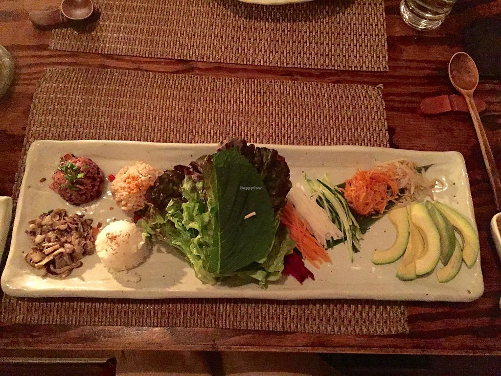 """Photo of HanGawi  by <a href=""""/members/profile/FrancescaRose"""">FrancescaRose</a> <br/>Main course of build-your-own wraps.  <br/> May 3, 2015  - <a href='/contact/abuse/image/2269/208748'>Report</a>"""