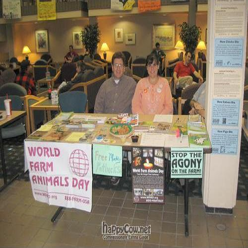"""Photo of Fargo-Moorhead Vegans and Friends  by <a href=""""/members/profile/naturekeene7"""">naturekeene7</a> <br/>Our table at World Farm Animals Day at MSUM <br/> July 6, 2010  - <a href='/contact/abuse/image/22763/5066'>Report</a>"""