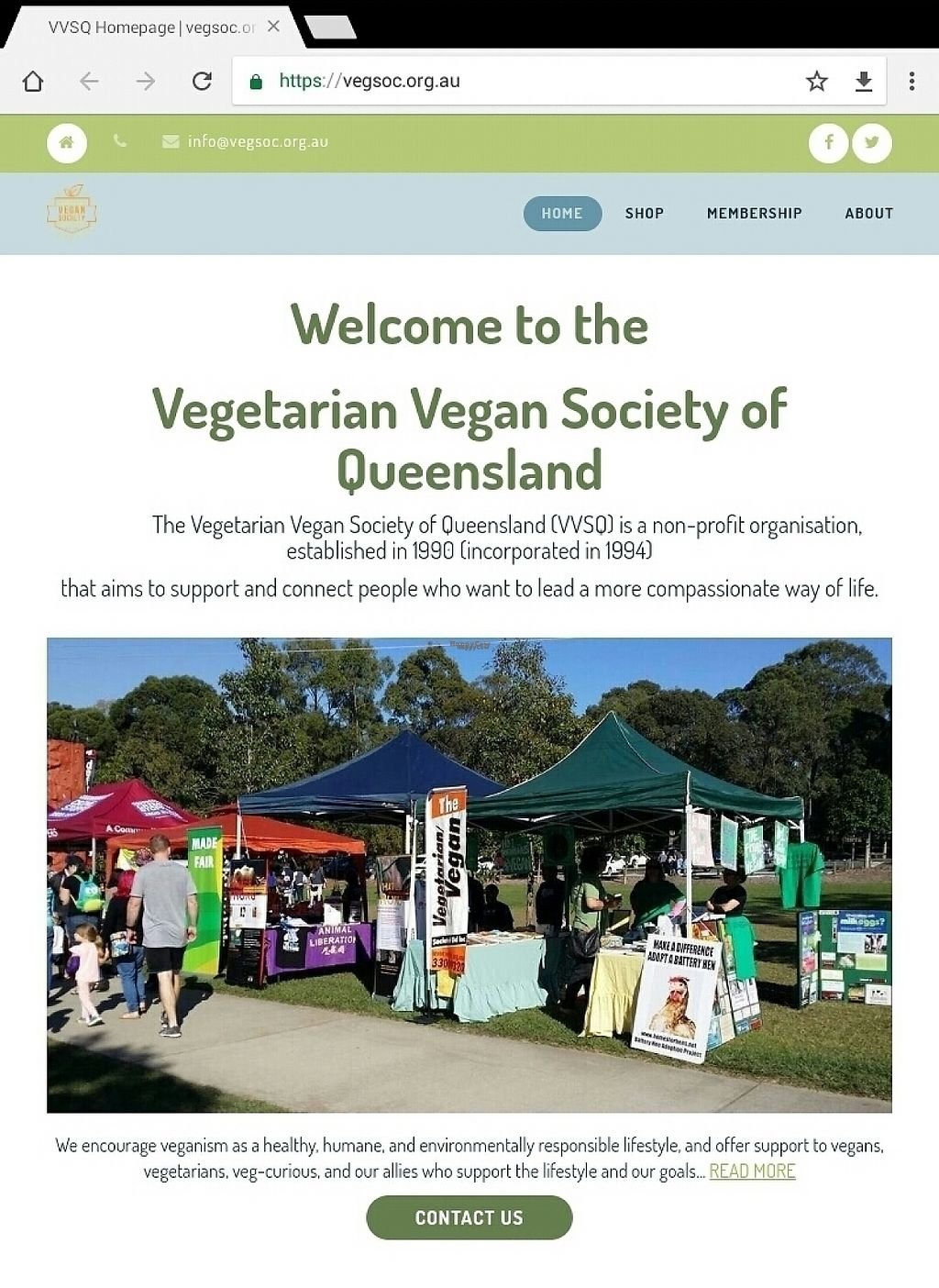 """Photo of The Vegetarian Vegan Society of Queensland  by <a href=""""/members/profile/Mike%20Munsie"""">Mike Munsie</a> <br/>updated VVSQ website <br/> April 25, 2017  - <a href='/contact/abuse/image/22807/252492'>Report</a>"""
