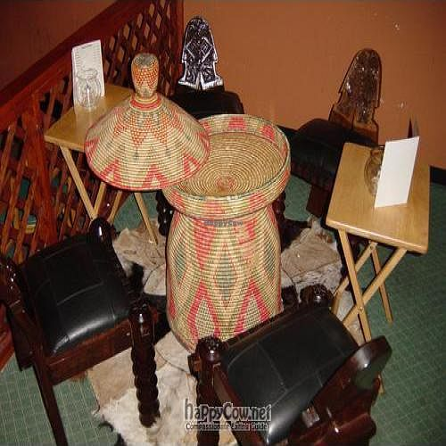 "Photo of CLOSED: Queen of Sheba  by <a href=""/members/profile/nebyoust"">nebyoust</a> <br/>A traditional sitting at Queen of Sheba Ethiopian rest. We use the basket as a table.  <br/> July 9, 2010  - <a href='/contact/abuse/image/22837/5087'>Report</a>"