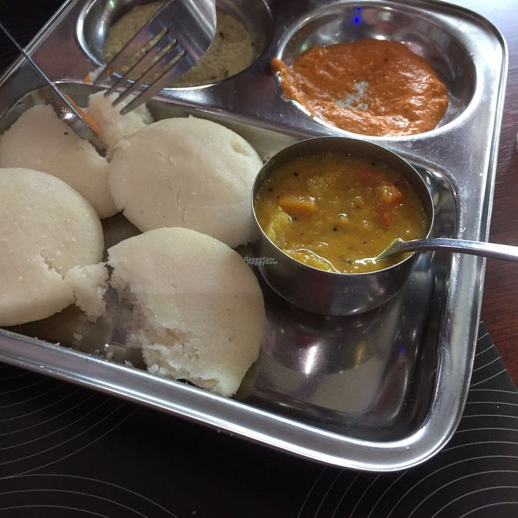 "Photo of Sri Ganesh  by <a href=""/members/profile/vegannomad2"">vegannomad2</a> <br/>idli. was good, not the best <br/> October 16, 2016  - <a href='/contact/abuse/image/22878/182434'>Report</a>"