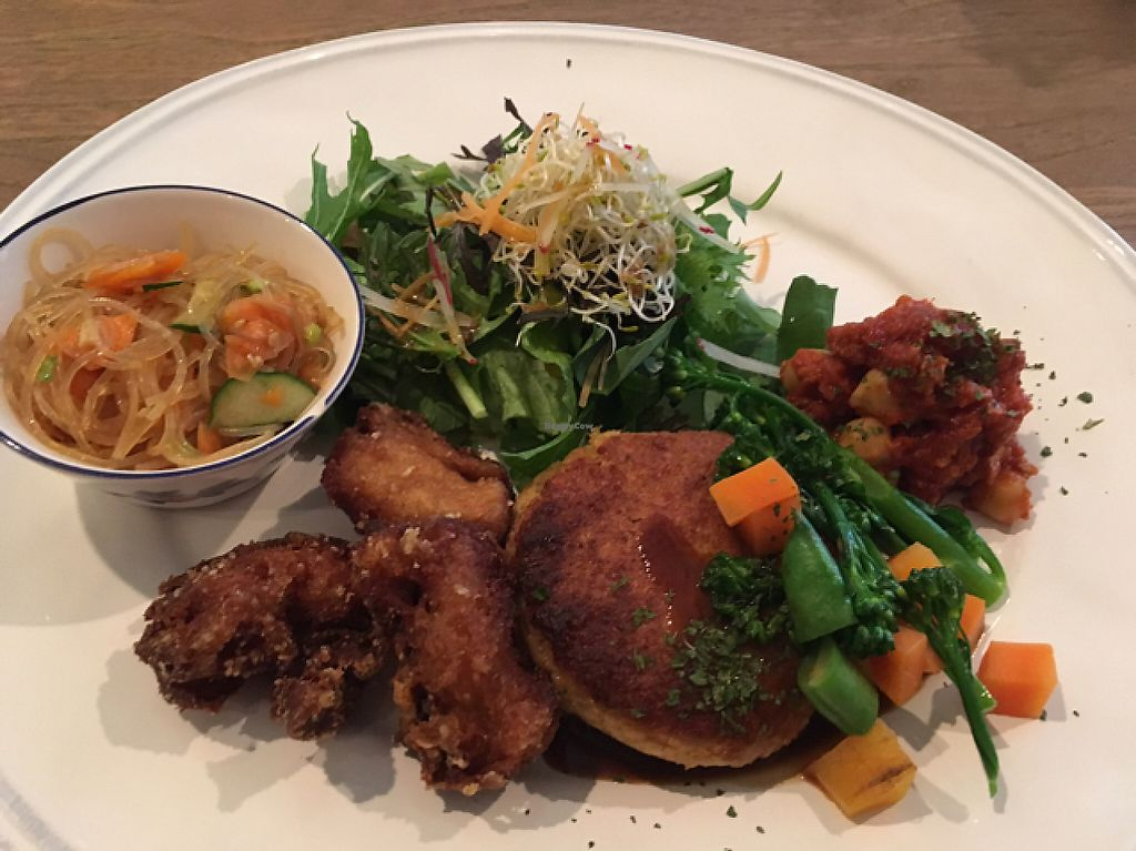 """Photo of Rainbow Raw Food  by <a href=""""/members/profile/Fabivegan"""">Fabivegan</a> <br/>lunch menu, very tasty  <br/> May 18, 2017  - <a href='/contact/abuse/image/22881/259876'>Report</a>"""