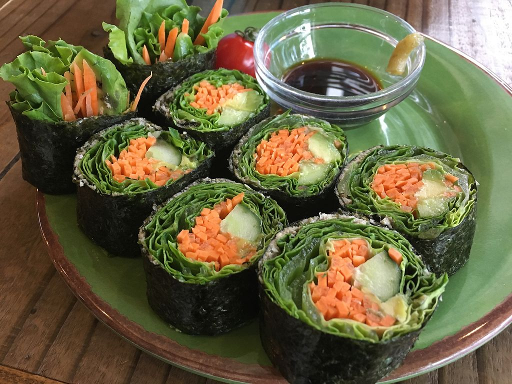"""Photo of Rainbow Raw Food  by <a href=""""/members/profile/paulkates"""">paulkates</a> <br/>Raw veggie sushi <br/> July 18, 2017  - <a href='/contact/abuse/image/22881/281639'>Report</a>"""