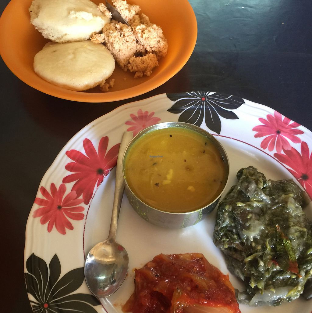 "Photo of Go Koos Hot Snaxs  by <a href=""/members/profile/M%20A%20N%20U"">M A N U</a> <br/>Dhal soup, spinach curry and idly with sambal <br/> May 17, 2017  - <a href='/contact/abuse/image/22891/259601'>Report</a>"