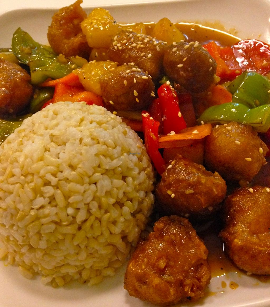 """Photo of Loving Hut - Honolulu South King St  by <a href=""""/members/profile/myra975"""">myra975</a> <br/>Sweet & Sour Hapa <br/> September 3, 2015  - <a href='/contact/abuse/image/22933/199275'>Report</a>"""