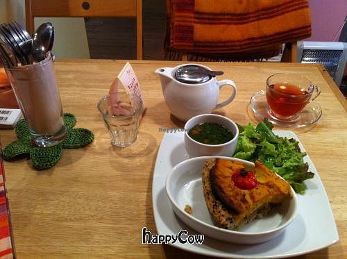 "Photo of CLOSED: Wholistic Healing Center Argutha  by <a href=""/members/profile/millyzad"">millyzad</a> <br/>yummy brown rice crusted sweet potato quiche and pomegranate green tea <br/> February 20, 2013  - <a href='/contact/abuse/image/22943/44428'>Report</a>"
