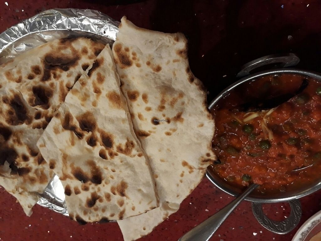 """Photo of Khana Khazana  by <a href=""""/members/profile/LilacHippy"""">LilacHippy</a> <br/>Veg Curry with nan bread <br/> May 22, 2017  - <a href='/contact/abuse/image/22954/261253'>Report</a>"""