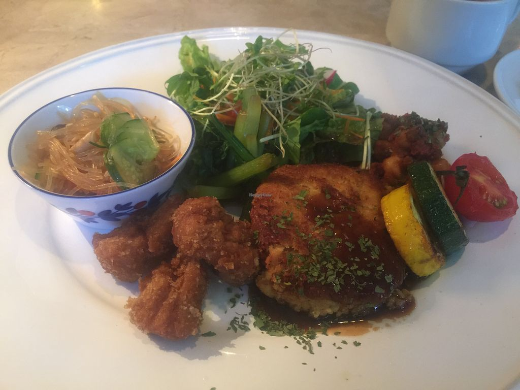 "Photo of Rainbow Bird Rendezvous  by <a href=""/members/profile/Tiggy"">Tiggy</a> <br/>Tofu steak plate - July 2015 <br/> July 30, 2015  - <a href='/contact/abuse/image/22968/111573'>Report</a>"