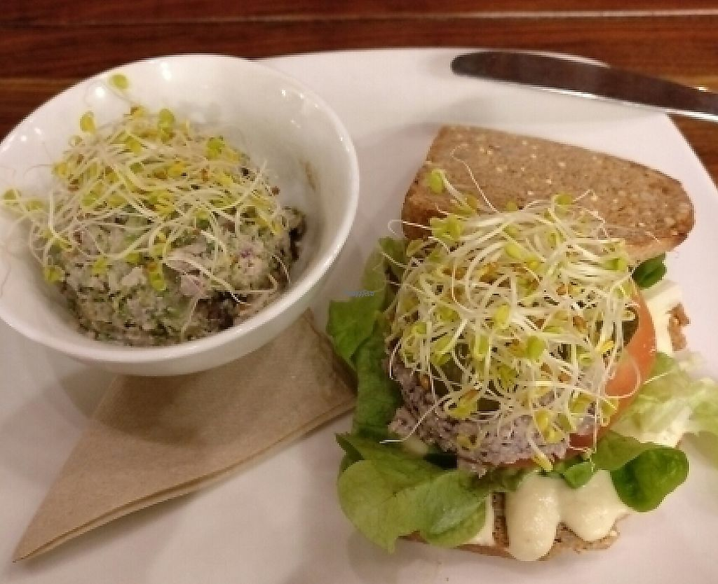 """Photo of Living Kitchen - South End  by <a href=""""/members/profile/Callummcgill"""">Callummcgill</a> <br/>Mock Tuna Salad Sandwich with Broccoli Waldorf, an excellent meal!  <br/> December 27, 2016  - <a href='/contact/abuse/image/22984/214426'>Report</a>"""