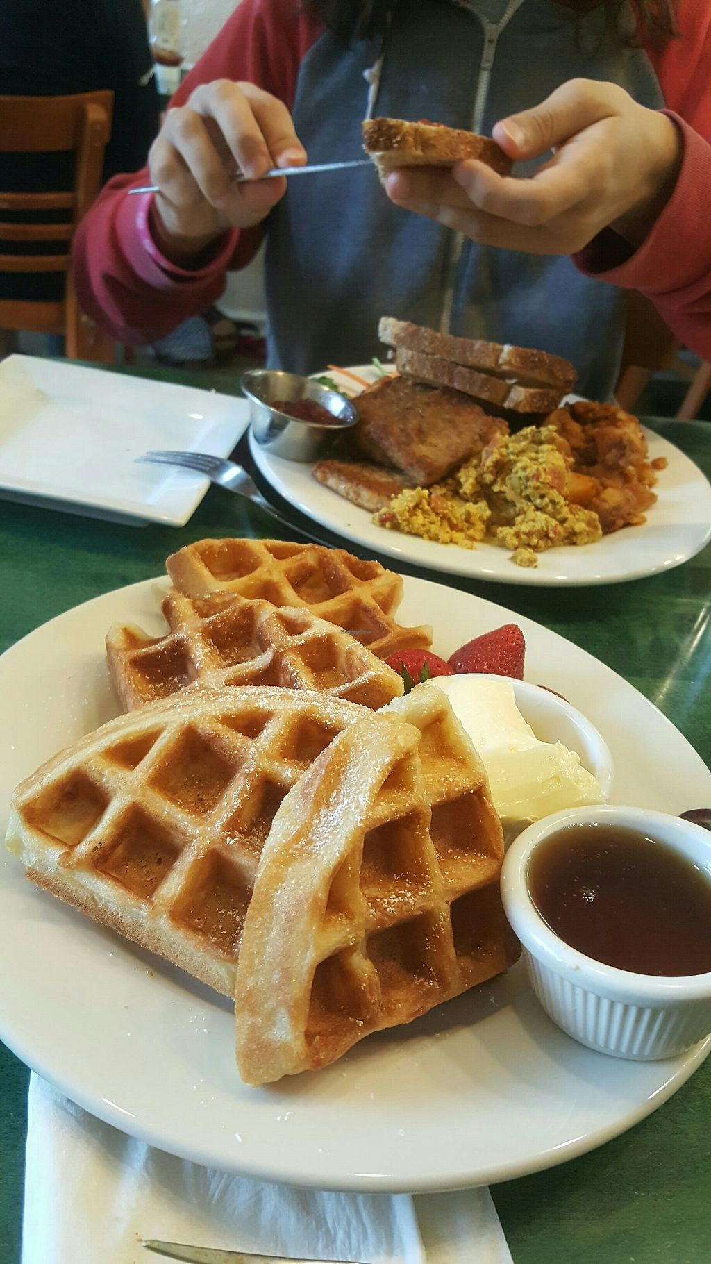 "Photo of Good Karma Cafe  by <a href=""/members/profile/Heidi12"">Heidi12</a> <br/>The best Belgian Waffles I've ever tried <br/> July 30, 2017  - <a href='/contact/abuse/image/22992/286829'>Report</a>"
