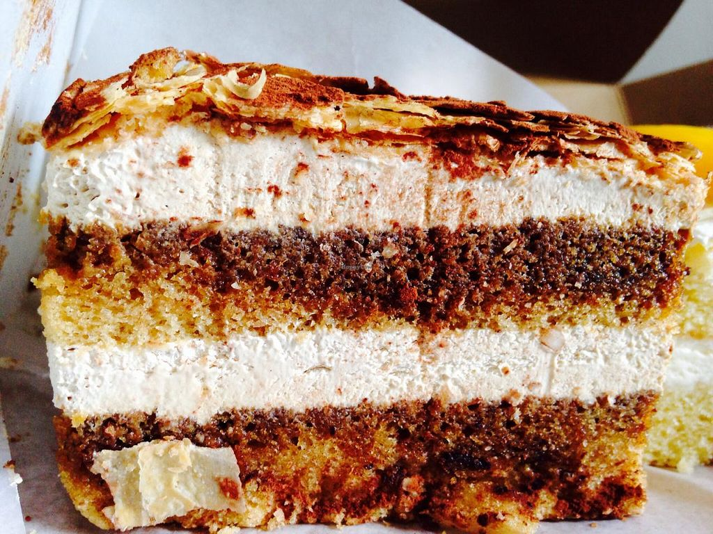 """Photo of Dama Pastry and Restaurant  by <a href=""""/members/profile/cookiem"""">cookiem</a> <br/>As close to vegan tiramisu you can get <br/> February 14, 2015  - <a href='/contact/abuse/image/23008/93008'>Report</a>"""