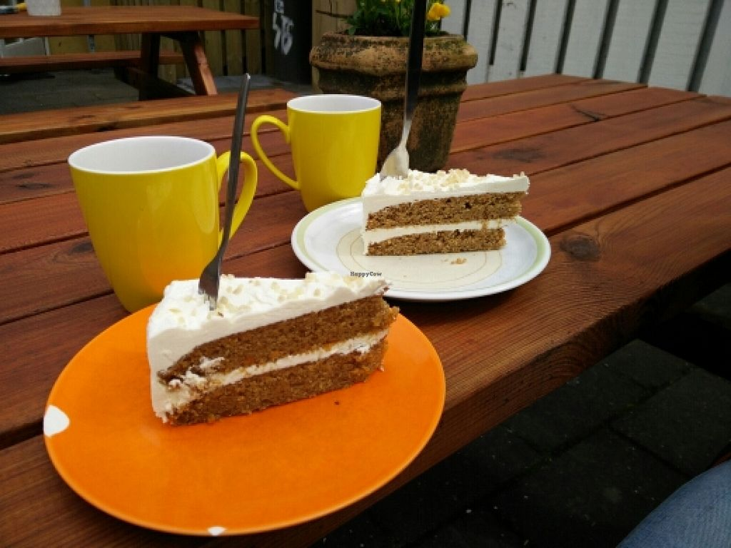 """Photo of Cafe Babalu  by <a href=""""/members/profile/elh_sweden"""">elh_sweden</a> <br/>Vegan carrot cake  <br/> June 4, 2016  - <a href='/contact/abuse/image/23014/152288'>Report</a>"""