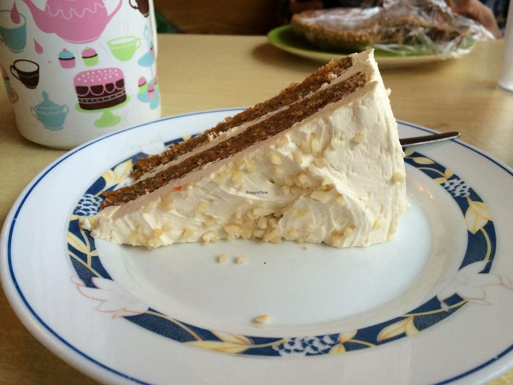 """Photo of Cafe Babalu  by <a href=""""/members/profile/pdxjayhawk"""">pdxjayhawk</a> <br/>Vegan carrot cake  <br/> April 6, 2015  - <a href='/contact/abuse/image/23014/98114'>Report</a>"""