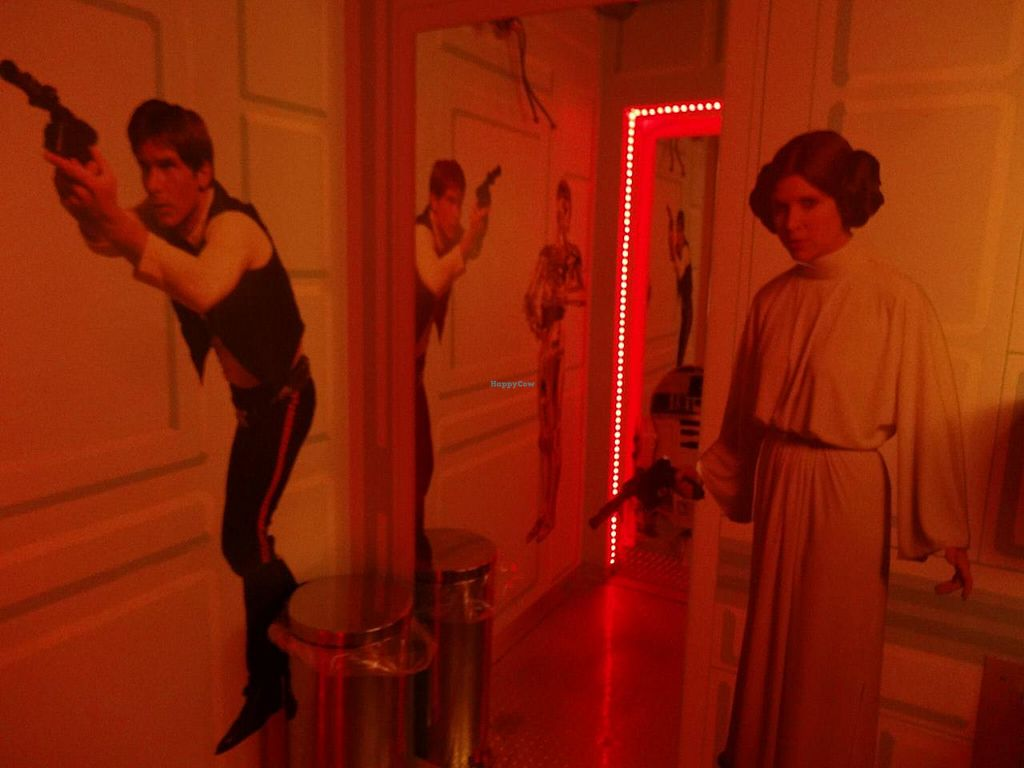 """Photo of Cafe Babalu  by <a href=""""/members/profile/pdxjayhawk"""">pdxjayhawk</a> <br/>Star Wars theme bathroom <br/> April 6, 2015  - <a href='/contact/abuse/image/23014/98119'>Report</a>"""