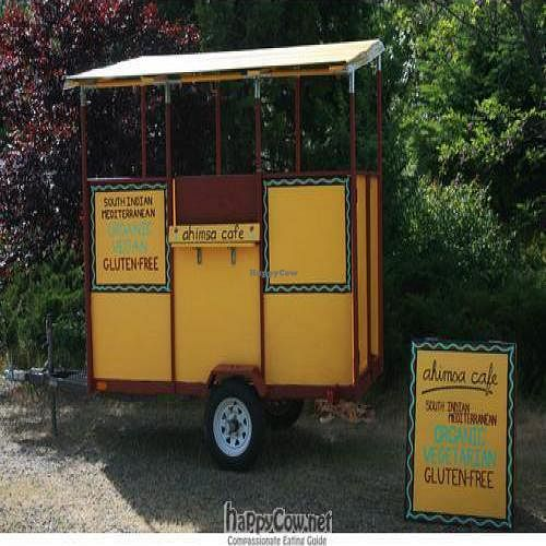 """Photo of CLOSED: Ahimsa Cafe  by <a href=""""/members/profile/Kimbot"""">Kimbot</a> <br/>The humble little food cart with a huge heart! <br/> July 24, 2010  - <a href='/contact/abuse/image/23018/5289'>Report</a>"""