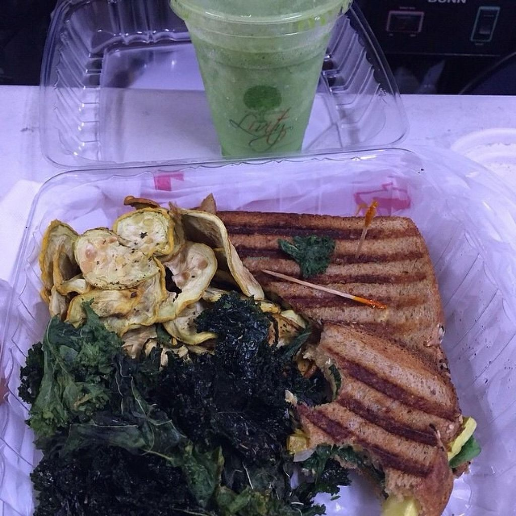"""Photo of Livity Vegetarian Take-out and Juice Bar  by <a href=""""/members/profile/JayRolle"""">JayRolle</a> <br/>HEALTHY LUNCH!! <br/> June 16, 2015  - <a href='/contact/abuse/image/23019/106138'>Report</a>"""