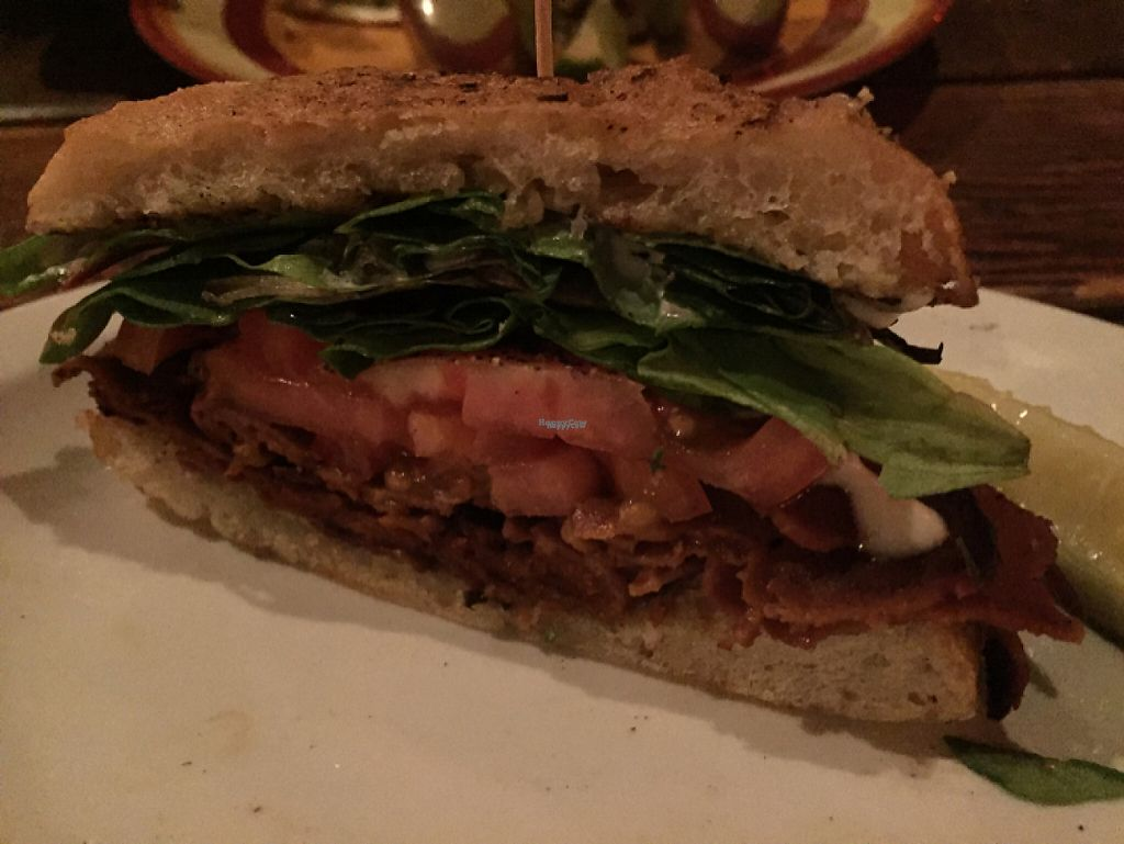 """Photo of Highline Bar  by <a href=""""/members/profile/BumbleBri9"""">BumbleBri9</a> <br/>Amazingly ridiculous vegan BLT <br/> November 16, 2016  - <a href='/contact/abuse/image/23034/190842'>Report</a>"""