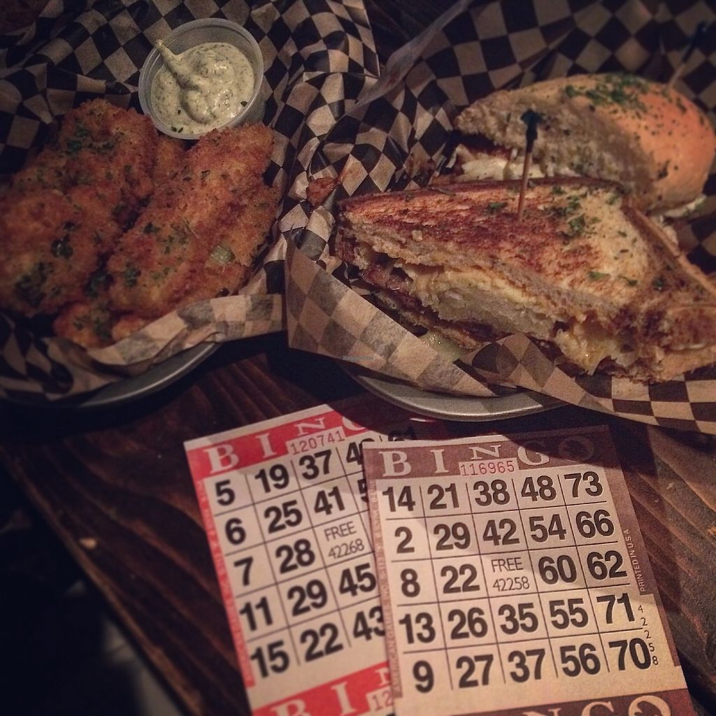 """Photo of Highline Bar  by <a href=""""/members/profile/the.fernweh.fox"""">the.fernweh.fox</a> <br/>Satan Fingers, Pickle Spears, Rubender Sandwich, Pig Destroyer Sandwich On 'Fuck Yeah Bingo' Night!   <br/> April 18, 2018  - <a href='/contact/abuse/image/23034/387747'>Report</a>"""