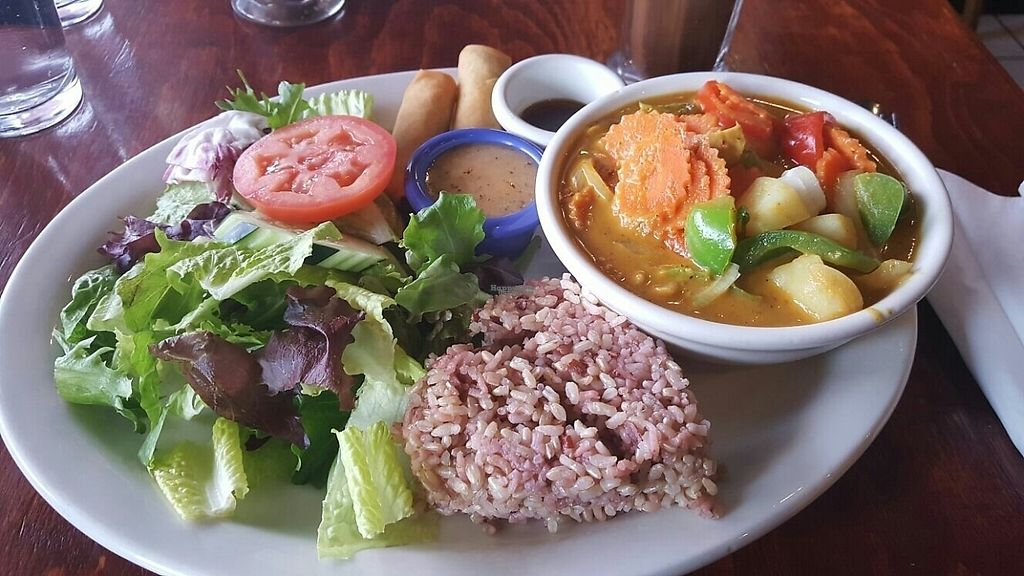"Photo of Thai Vegan  by <a href=""/members/profile/Starz%20Happy%20Cow"">Starz Happy Cow</a> <br/>Yellow Curry w/ Chicken Lunch Special-delicious! <br/> January 27, 2017  - <a href='/contact/abuse/image/23089/217961'>Report</a>"