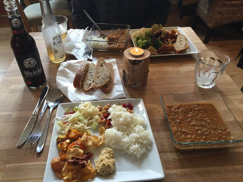 """Photo of Cafe Gaya  by <a href=""""/members/profile/Unograd09"""">Unograd09</a> <br/>Buffet Plates - the square bowl is a lentil soup <br/> May 30, 2016  - <a href='/contact/abuse/image/23115/151454'>Report</a>"""