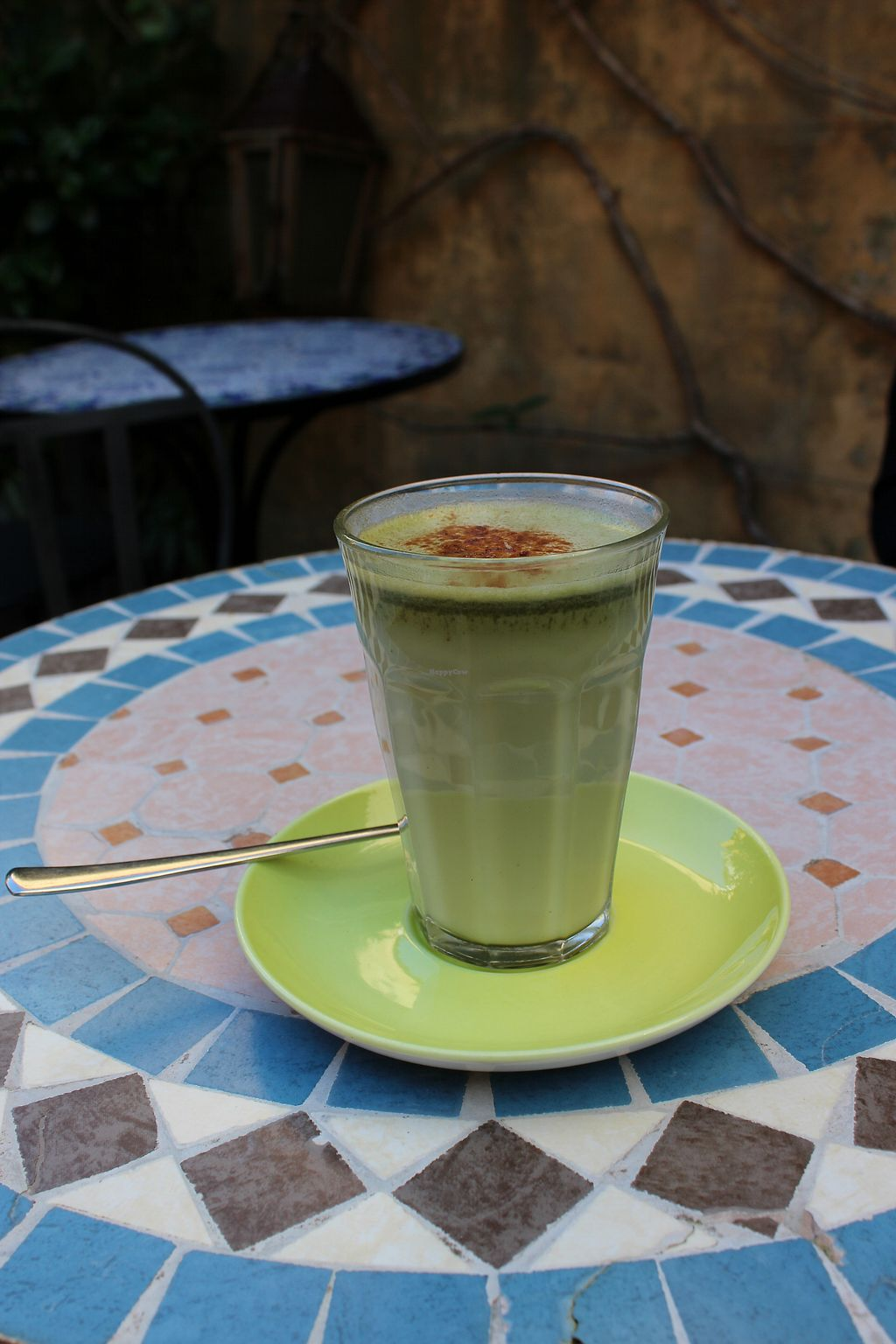 """Photo of Cafe Gaya  by <a href=""""/members/profile/hanamizu"""">hanamizu</a> <br/>vegan: matcha latte <br/> August 31, 2017  - <a href='/contact/abuse/image/23115/299454'>Report</a>"""