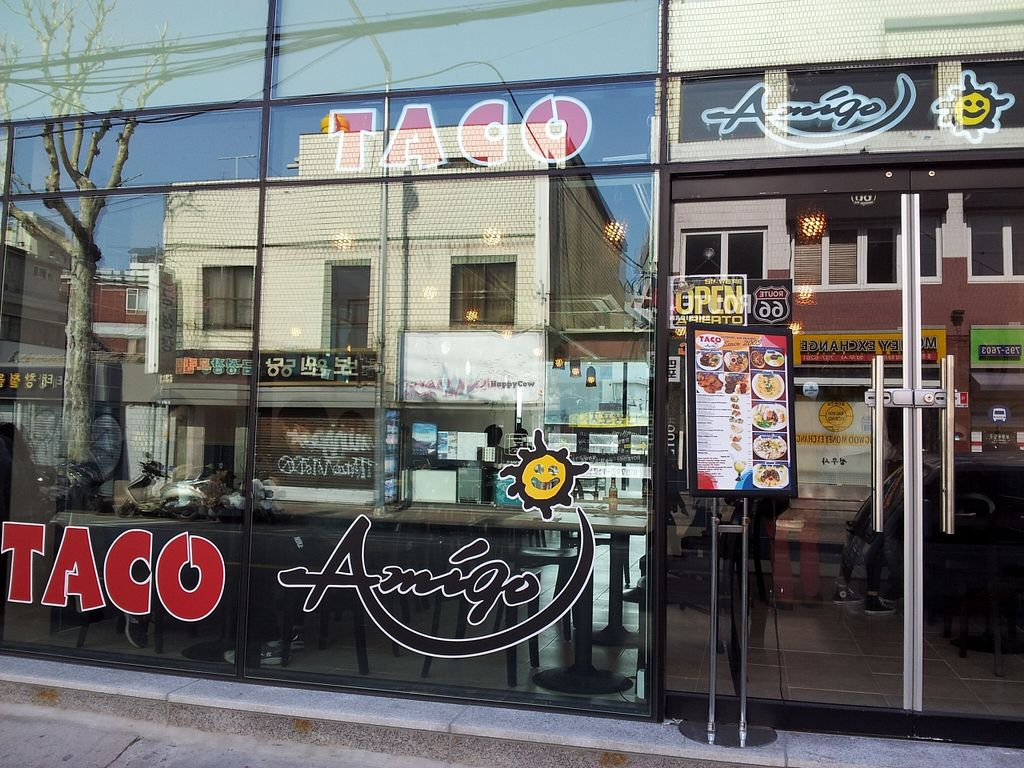 """Photo of Taco Amigo - 타코 아미고  by <a href=""""/members/profile/MarmiteHappy"""">MarmiteHappy</a> <br/>New refurbished exterior <br/> April 17, 2016  - <a href='/contact/abuse/image/23132/145029'>Report</a>"""