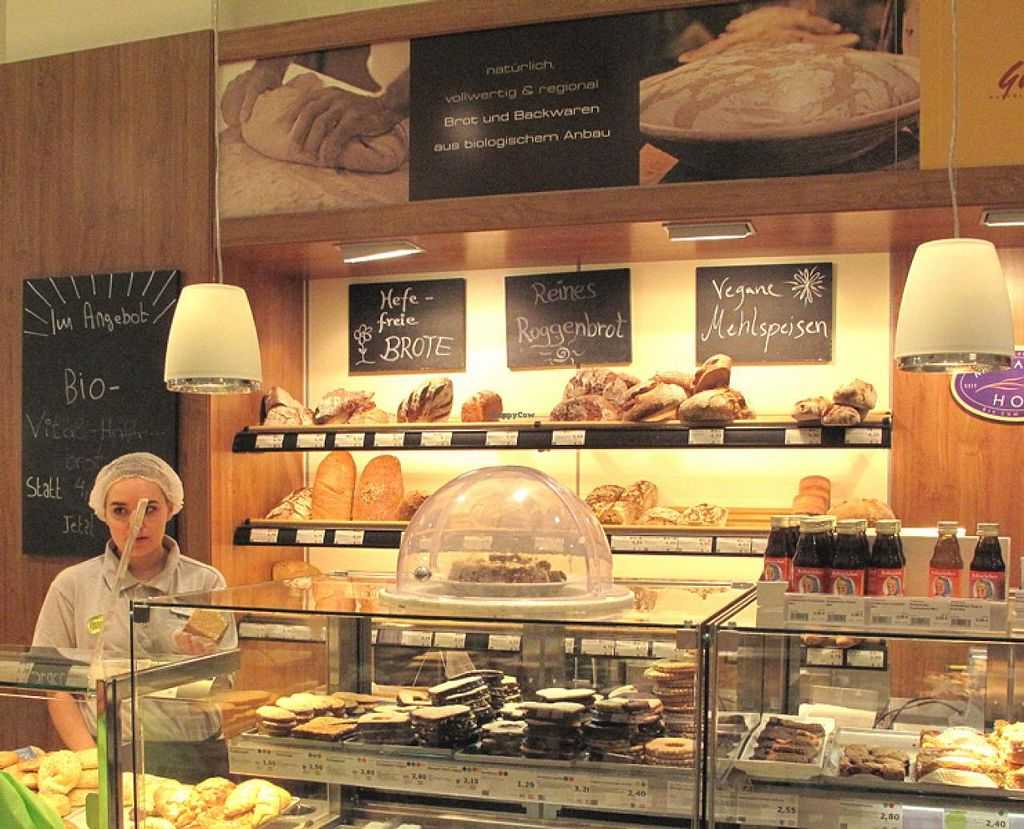 """Photo of denn's Biomarkt - Taborstr.  by <a href=""""/members/profile/lallilaranja"""">lallilaranja</a> <br/>vegan baked goods are available at the bakery <br/> July 21, 2014  - <a href='/contact/abuse/image/23137/74650'>Report</a>"""