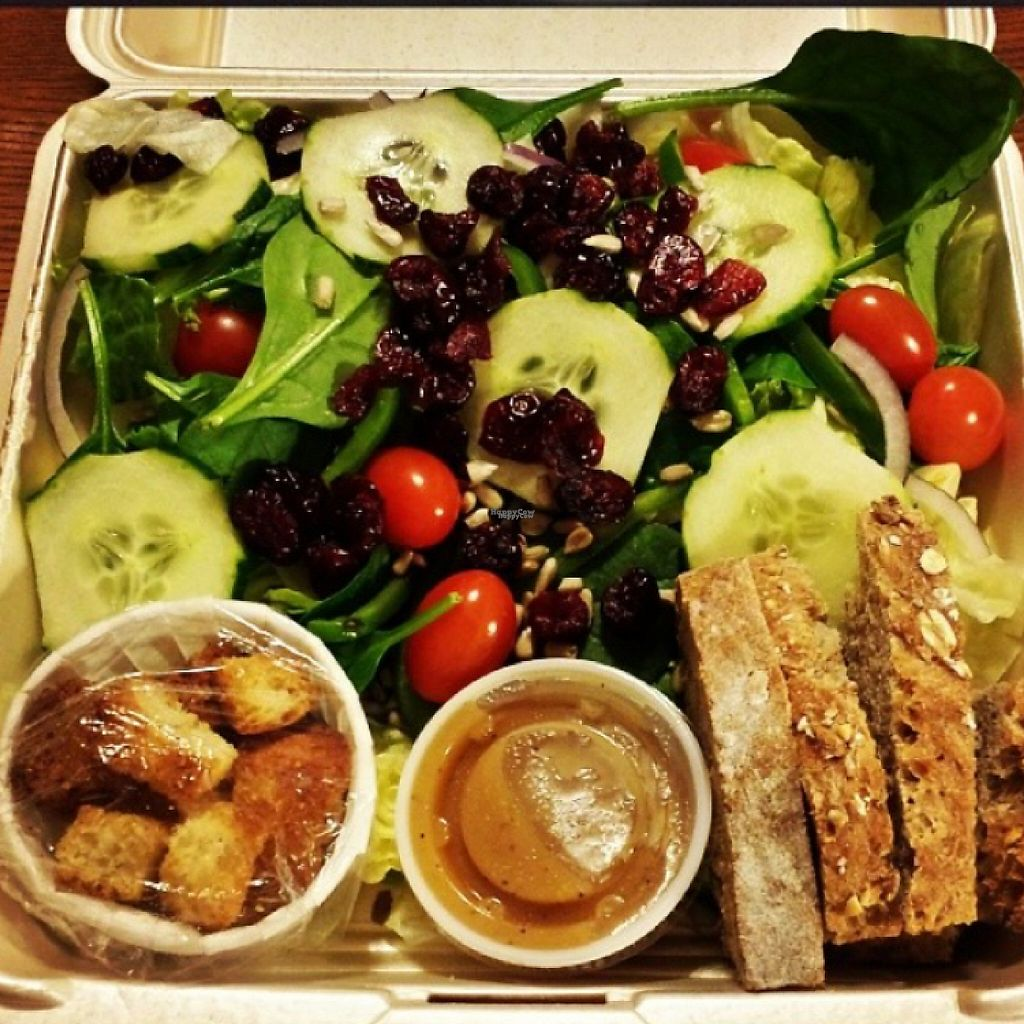 """Photo of Silke's Old World Breads  by <a href=""""/members/profile/happycowgirl"""">happycowgirl</a> <br/>vegan salad <br/> February 8, 2017  - <a href='/contact/abuse/image/23158/224414'>Report</a>"""
