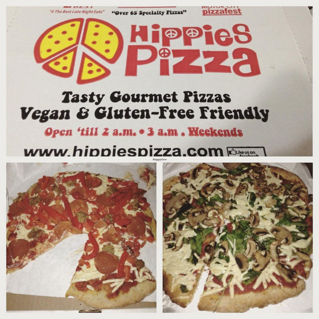 """Photo of Hippies Pizza  by <a href=""""/members/profile/earthlingcassie"""">earthlingcassie</a> <br/>yum :) <br/> July 11, 2015  - <a href='/contact/abuse/image/23170/108970'>Report</a>"""
