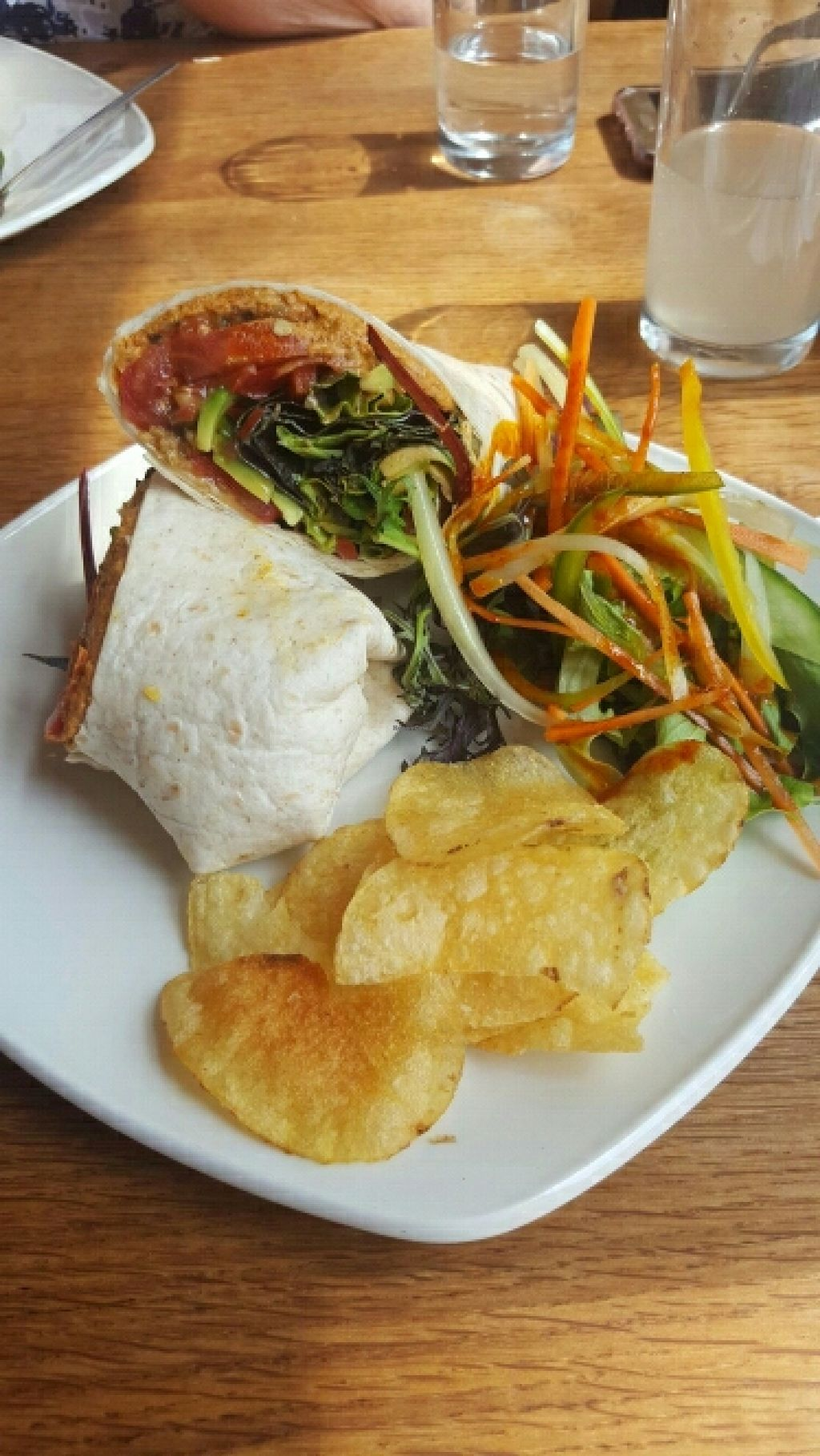 """Photo of The Beech Cafe  by <a href=""""/members/profile/Gupalsmurthpadacal"""">Gupalsmurthpadacal</a> <br/>hummus and olive wrap (vegan option) <br/> May 7, 2016  - <a href='/contact/abuse/image/23171/147851'>Report</a>"""