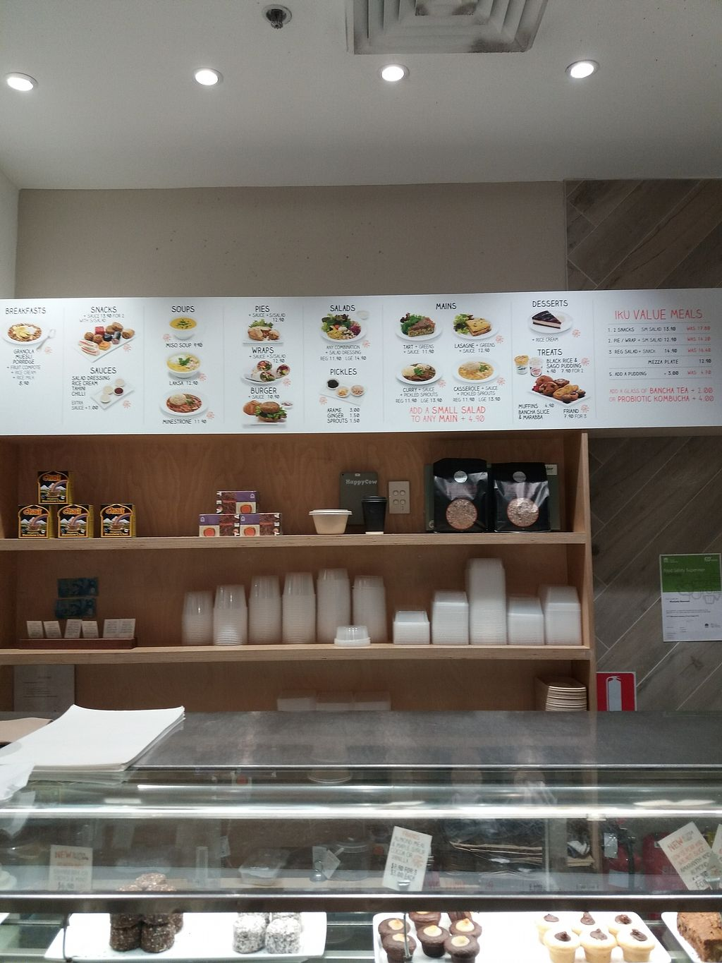 """Photo of Iku Wholefood Kitchen - Greenwood Plaza  by <a href=""""/members/profile/veganvirtues"""">veganvirtues</a> <br/>Iku selection of dishes <br/> September 20, 2017  - <a href='/contact/abuse/image/23181/306359'>Report</a>"""