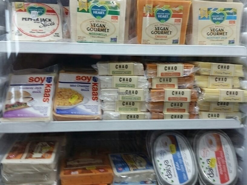 """Photo of Gary Null's Uptown Whole Foods  by <a href=""""/members/profile/eric"""">eric</a> <br/>vegan cheeses <br/> September 10, 2016  - <a href='/contact/abuse/image/2318/174738'>Report</a>"""