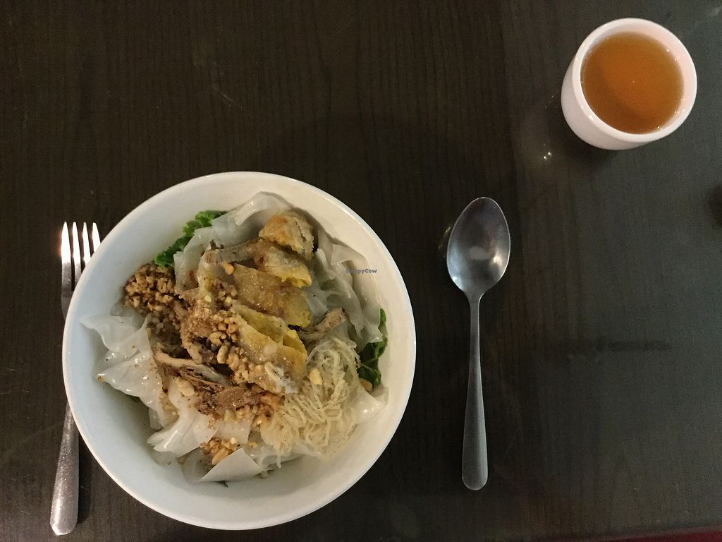 """Photo of Evergreen Vegetarian and Cafe House  by <a href=""""/members/profile/Mike%20Munsie"""">Mike Munsie</a> <br/>today's special rice noodles <br/> September 4, 2017  - <a href='/contact/abuse/image/23190/300788'>Report</a>"""