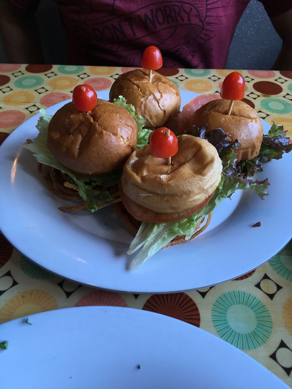 "Photo of Saturn Cafe  by <a href=""/members/profile/dvcucsc"">dvcucsc</a> <br/>Appetizer sliders.  We loved the cowboy sliders with shoestring onion rings <br/> February 6, 2018  - <a href='/contact/abuse/image/23202/355512'>Report</a>"