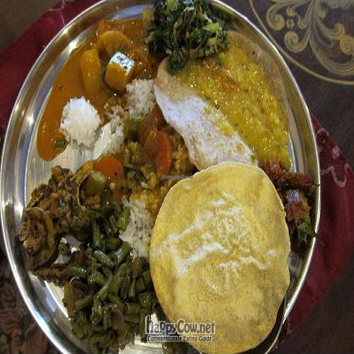 """Photo of Annalakshmi Restaurant  by <a href=""""/members/profile/cvxmelody"""">cvxmelody</a> <br/>Lunch plate <br/> April 2, 2011  - <a href='/contact/abuse/image/23250/8023'>Report</a>"""