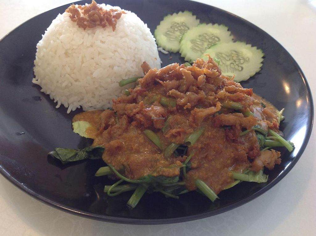 """Photo of Senwell Vegetarian Restaurant  by <a href=""""/members/profile/SusanneLoh"""">SusanneLoh</a> <br/>Senwell Vegetarian Resturant~ Personal meal 'Satay tofu rice'   天之雨素食料理 ~个人套餐精選 《Satay豆腐飯》 <br/> January 17, 2014  - <a href='/contact/abuse/image/23282/62648'>Report</a>"""