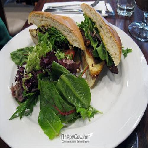 """Photo of CLOSED: V Note  by <a href=""""/members/profile/From%20A%20to%20Vegan"""">From A to Vegan</a> <br/>BLT crispy southern fried tofu, tempeh bacon, lettuce & tomato <br/> May 31, 2011  - <a href='/contact/abuse/image/23368/8865'>Report</a>"""