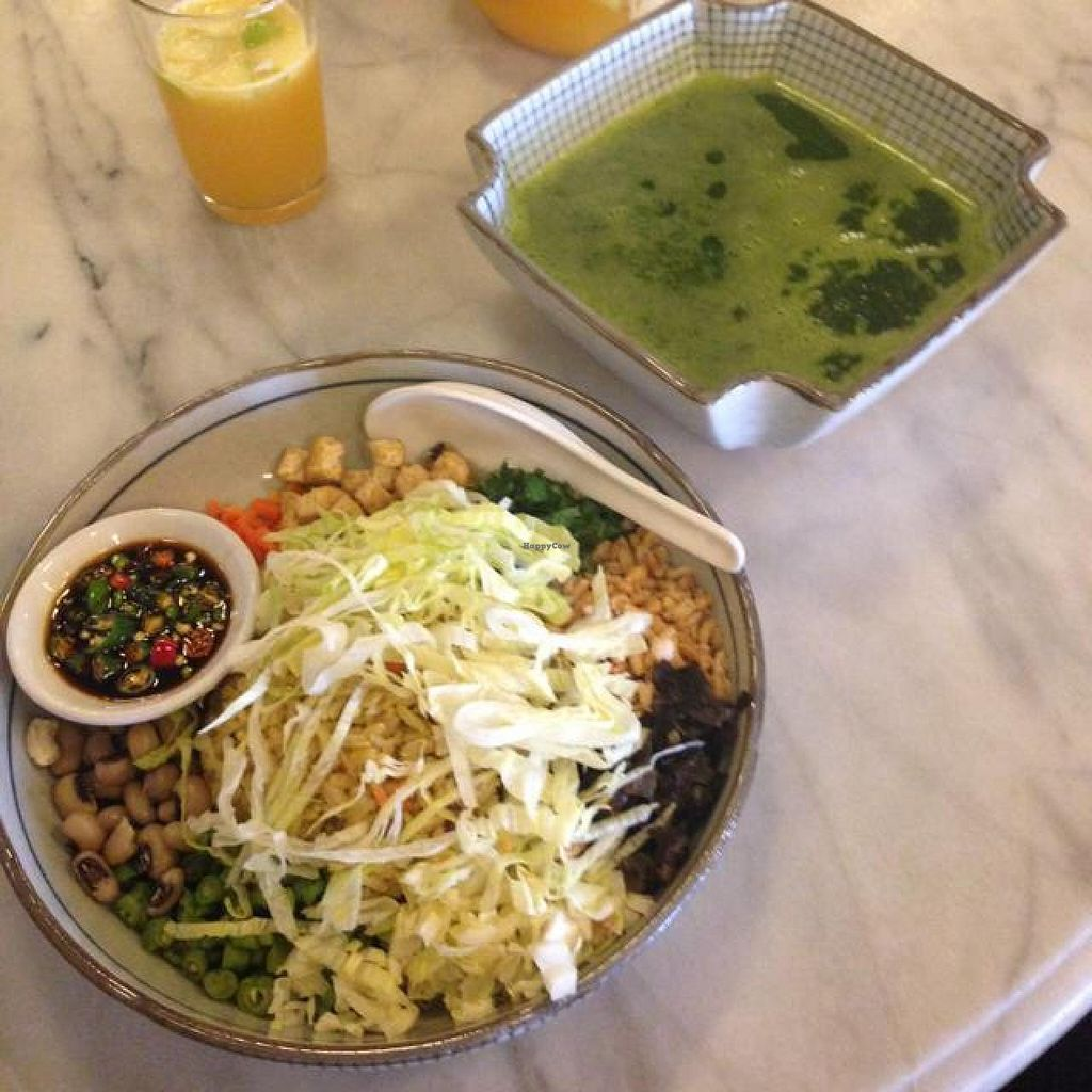 """Photo of CLOSED: LeAnn Organic Cafe  by <a href=""""/members/profile/AndyT"""">AndyT</a> <br/>Hakka Lei Cha (daily special) <br/> July 12, 2014  - <a href='/contact/abuse/image/23409/73821'>Report</a>"""