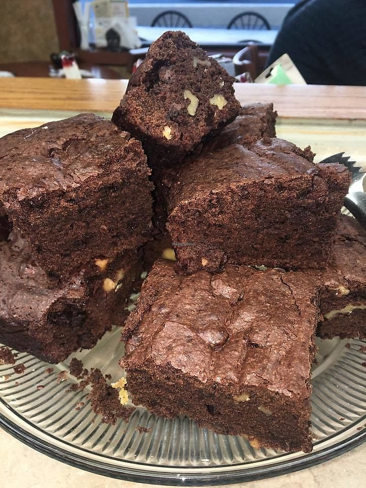 "Photo of Good Karma Cafe  by <a href=""/members/profile/HuggleFluff"">HuggleFluff</a> <br/>Epic Vegan Brownies!! <br/> March 21, 2018  - <a href='/contact/abuse/image/23436/374058'>Report</a>"